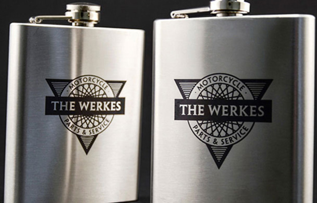cermark logo on stainless steel flask